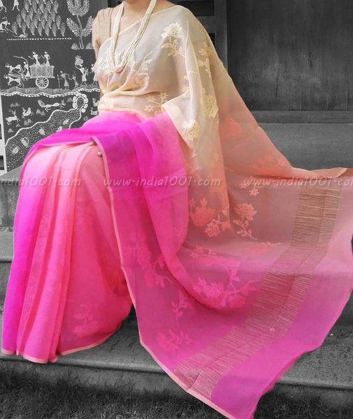 Designer Pure Chiffon Saree with Embroidery