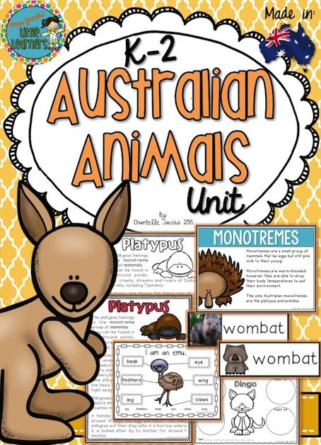 Australian Animals Information Text Unit. Non Fiction Research. Native Aussie…