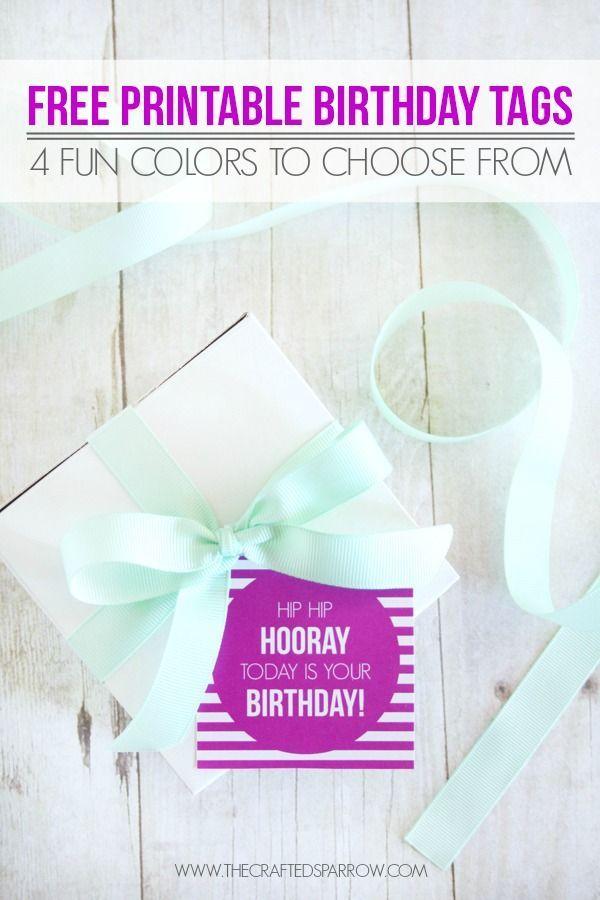 Free Printable Birthday Tags - thecraftedsparrow.com