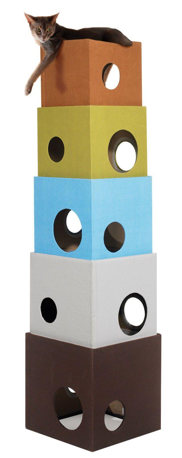 Kitty CAT Cube Tower CAT Tree Condo Scratcher Furniture | eBay