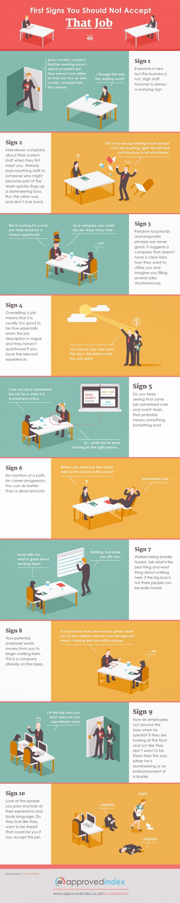 best ideas about job offer career resume and infographic signs you should not accept that job offer