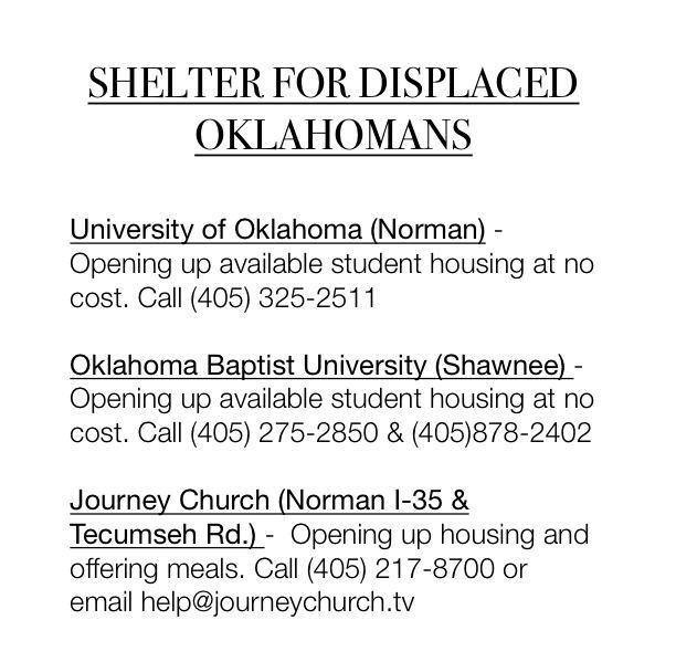 Oilfield Families of America - Facebook: Displac Families, Natural Disasters, Disasters Relief, Okc Shelters, Oilfields Families, Parties Community, Places Open, Parties Hub, Teas Parties