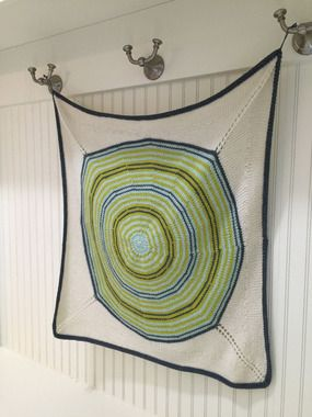 A. Opie Center Point Baby Blanket Knitting Pattern