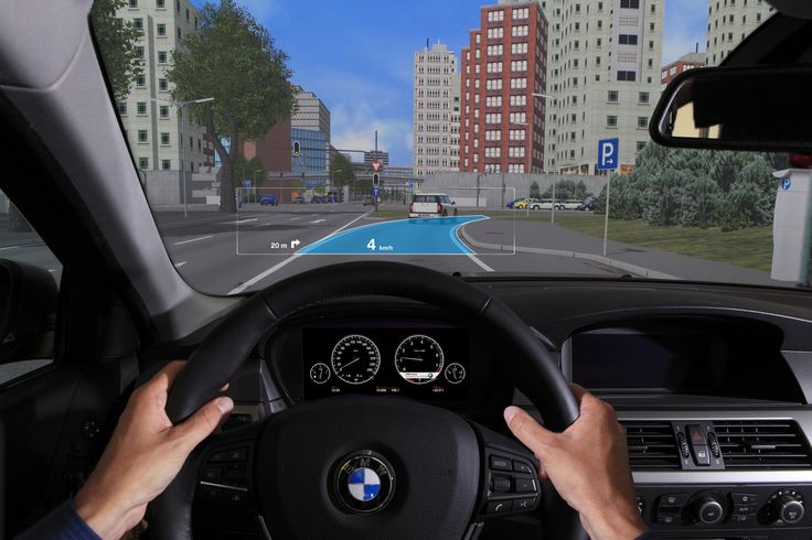 BMW showcases the next generation Head-Up Display with Augmented Reality = Concept