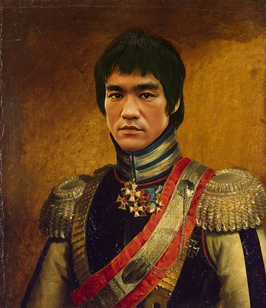 Bruce Lee - replaceface Art Print