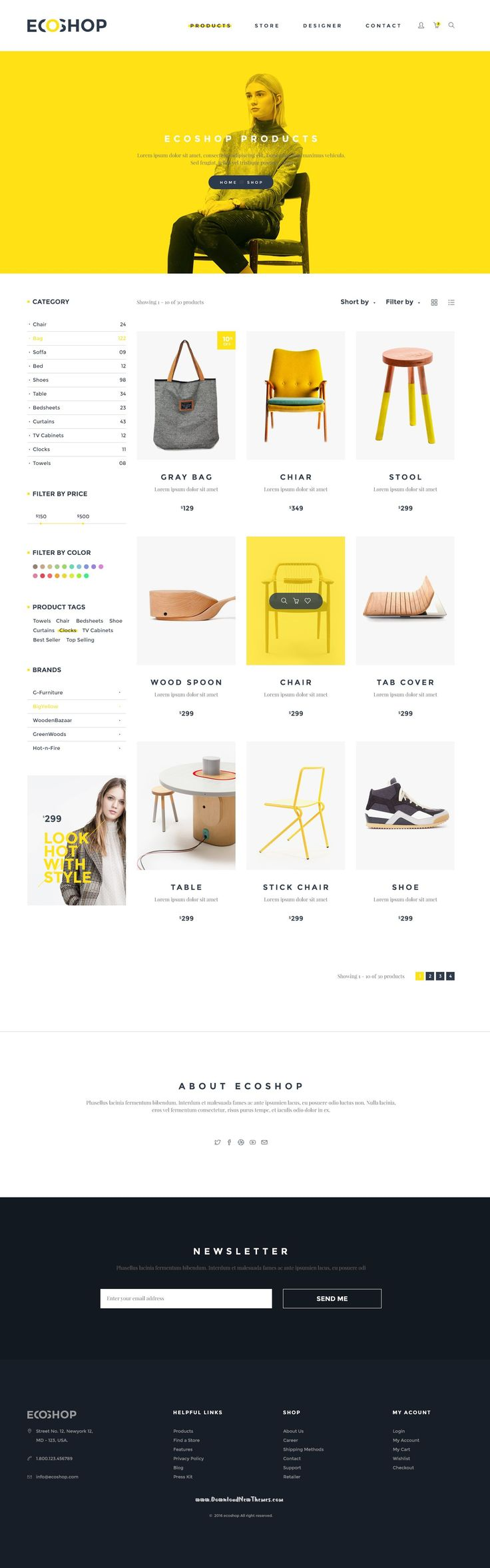 ECOSHOP is high quality eCommerce PSD Templates which designed for commercial use like clothes, cosmetics, #furniture, gadgets, shoes, bags, home #decor etc. Download Now➝ http://themeforest.net/item/ecoshop-multipurpose-ecommerce-psd-template/15514462?ref=Datasata