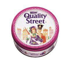 quality street chocolates!!!!!! the fruity ones where my favorite