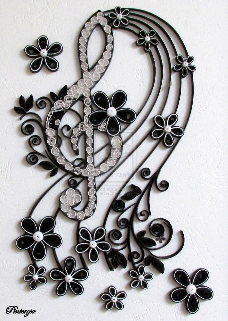 Quilled treble clef by pinterzsu on deviantart gorgeous for How to quilling designs