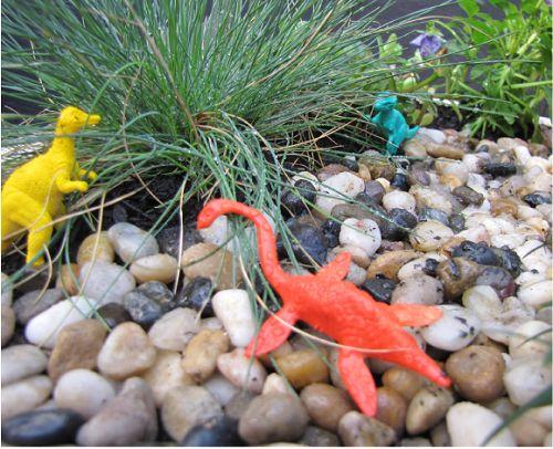 Build a dinosaur garden for the kids