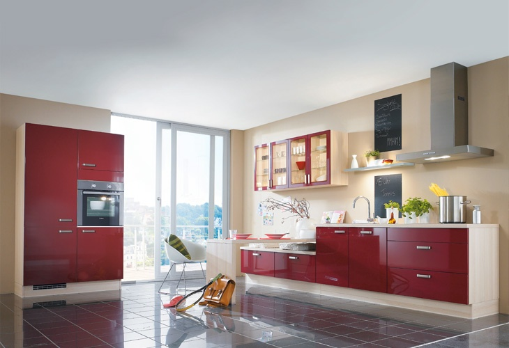 Red kitchen, Kitchens and Blog on Pinterest