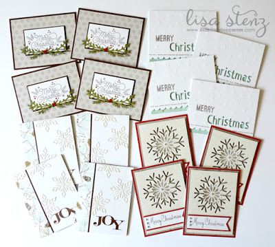 Lisa's Creative Corner: October Project Kit - Very Merry Christmas Card Kit
