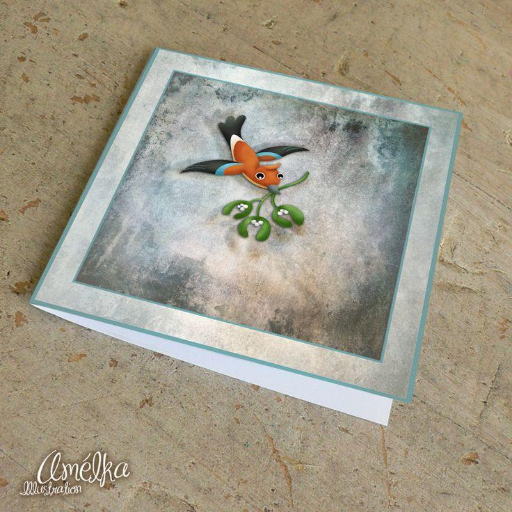 Sojka+letí+se+jmelím+-+přání+přáníčko+z+kolekce+Vánoční+přípravy+rozměry:+9x9,5+cm+tištěno+na+béžový+papír+s+plátnovou+strukturou+součástí+zboží+není+obálka+autor+grafiky:+Klára+Kubešová+(c)+v+nabídce+také:+adventní+kalendář+z+mé+dílny+si+můžete+prohlédnout+zde>>>.+nažehlovačky:++pexeso:+visačky+a+záložky:+přáníčka:+obrázky+dětem: