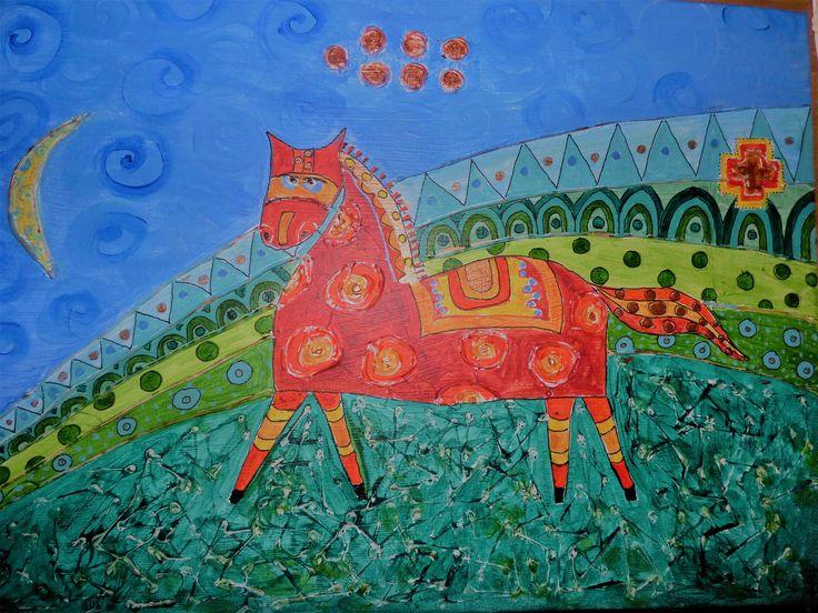 S.V-B. Slncový kôň, acryl