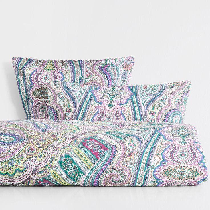Multicoloured Paisley Print Bed Linen