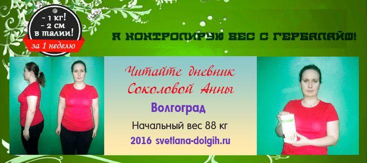 Дневник снижения веса Гербал Анны Соколовой, 1 неделя
