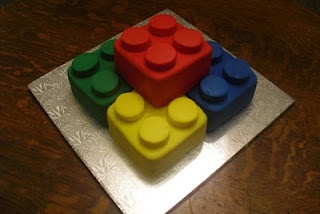 Easy Lego Cake. i might try this for Nate's bday