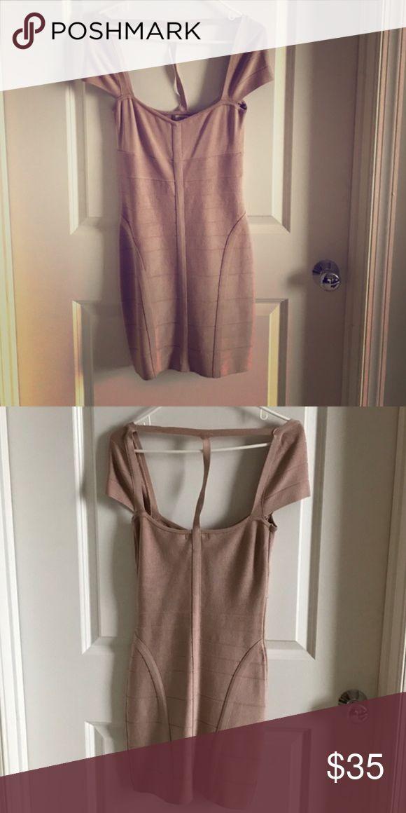 Rose gold bandage dress 6/8 Dresses Mini