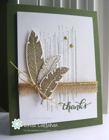 Feathery Thanks by abbysmom2198 - Cards and Paper Crafts at Splitcoaststampers
