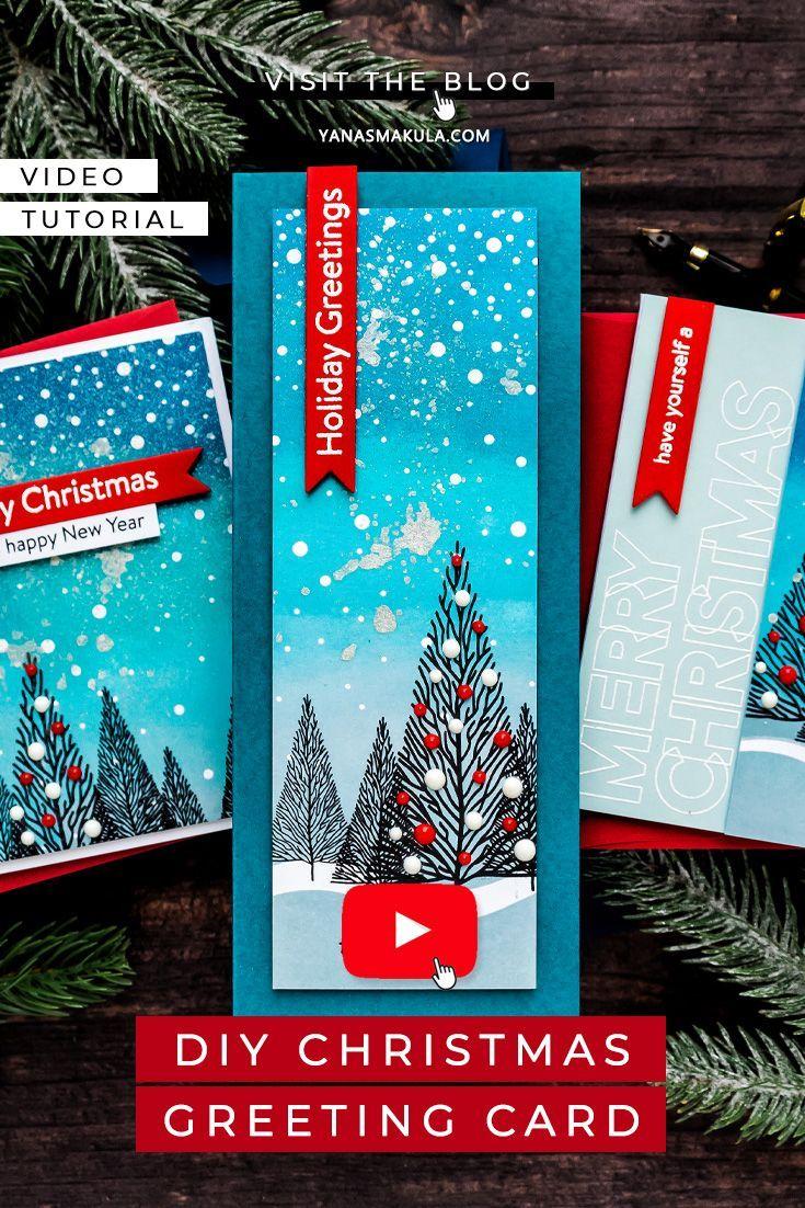 Simon Says Stamp Slimline Scene Builder 3 Ways Video In 2020 Christmas Card Inspiration Cards Simon Says Stamp