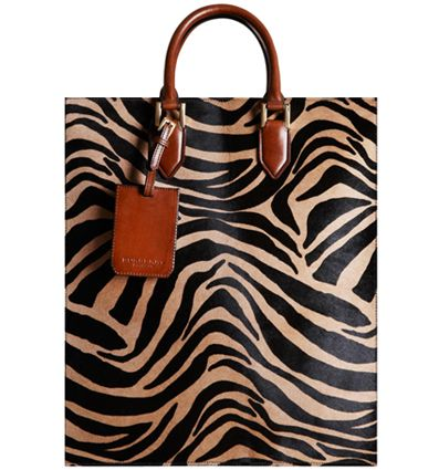 2278ec3da844 Burberry Prorsum Striped Animal Print Tote