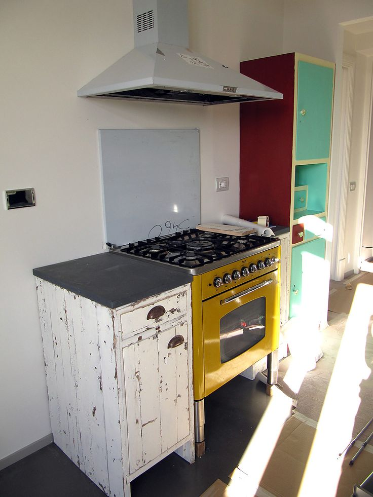 My cabinet with Rex yellow oven