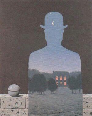 """""""El donante feliz"""" (1966) Magritte."""