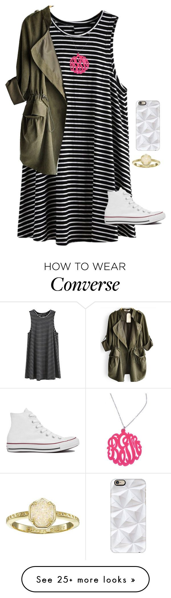 """I like this set"" by avaodom on Polyvore featuring Casetify, Converse, Initial Reaction and Kendra Scott"
