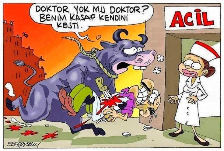 Karikatür | Komik Karikatürler 2013 | Komik Resimler: Doktor yok mu doktor?