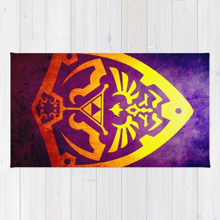 30% Off Everything - Free Shipping On Most Items With Code GIFTIT - Ends Tonight at Midnight PT . Zelda Shield Rug. #livingroom #gifts #homegifts #homedecor #online #shopping #39 #giftsforher #giftsforhim #zelda #style #art #redbubble #zeldashiel #home #family #bedroom #kidsroom #modern #thelegendofzelda #rug #gaming #gamer #videogames #life #geek #dorm #campus