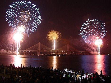 Charleston, South Carolina July 4th fireworks