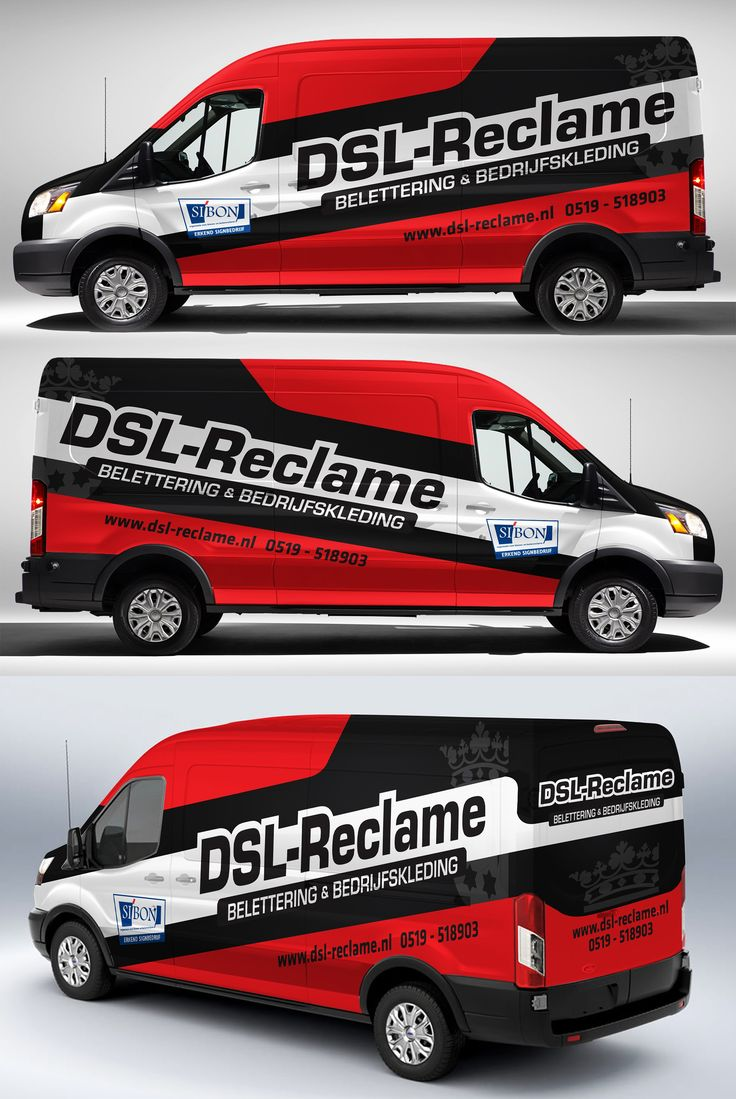 Car stickers advertising - Ford Transit Wrap For Dsl Reclame