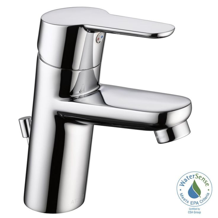 Delta Modern Project Pack Single Hole Single-Handle Bathroom Faucet in Chrome (Grey)