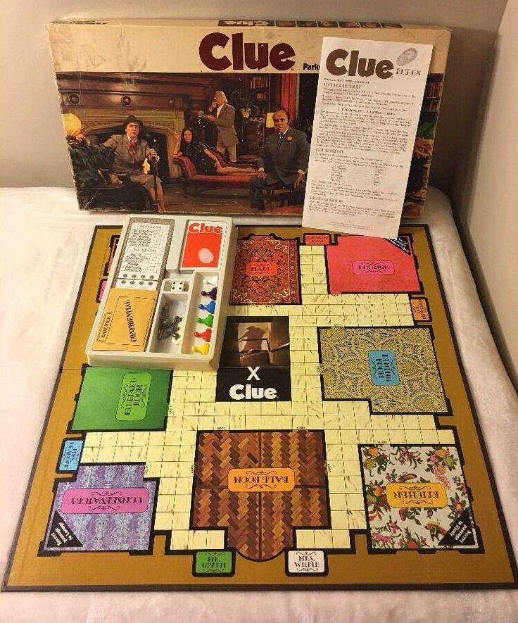 Vintage Parker Brothers CLUE 1972 Detective Board Game.  100% Complete  | eBay