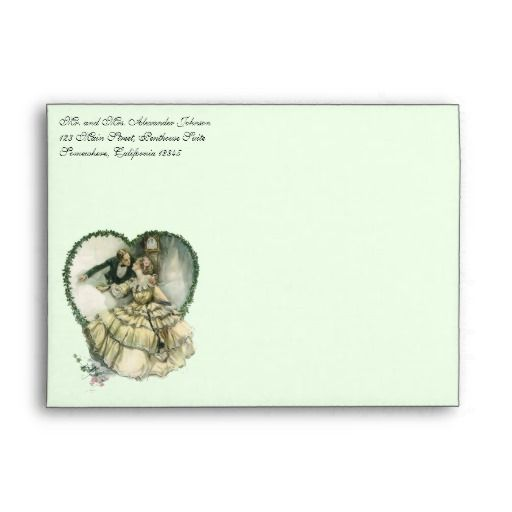 Vintage Victorian Christmas Wedding Envelopes