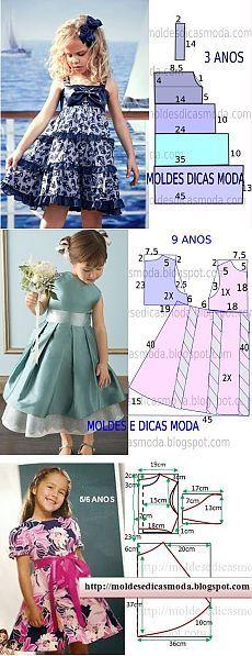 Molde vestidos de niña