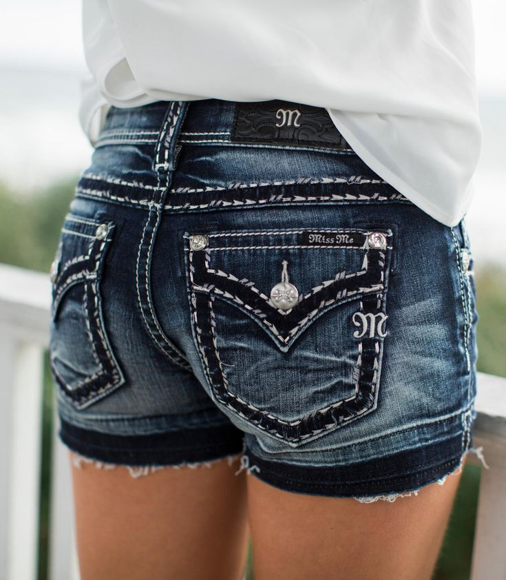 Miss Me Signature Stretch Short - Women's Shorts   Buckle  Shorts like these are what I really like