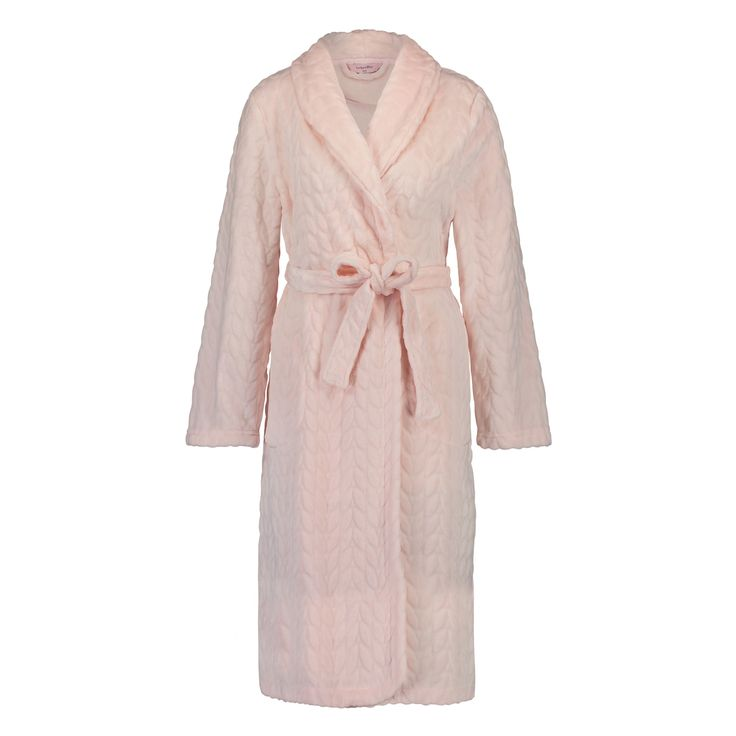 Put on this fleece bathrobe after hot bath to stay lovely and warm: ideal for cold winter days. Combine with some nice warm slippers.