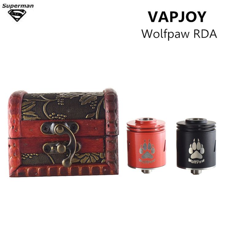 2017 New arrive VAPJOY Wolfpaw RDA tank atomizer 24mm Diameter 304 Stainless Steel 510 thread Material RDA e cigarette vaporizer #Affiliate
