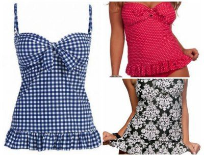 mom bathing suits with skirt | Tankini style bathing suits on sale – Ruffles ,boy shorts, tankini ...