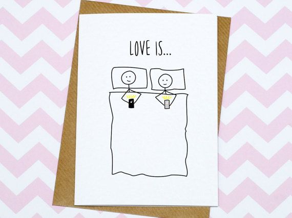 Anniversary Card  Funny Card  Lying In Bed by GinBunnyPrints