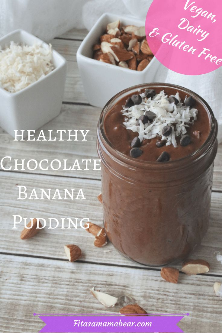 Chocolate banana pudding, homemade chocolate pudding, healthy snack recipes, gluten free, paleo, dairy free, vegan, clean eating, toddler snack ideas, healthy treats