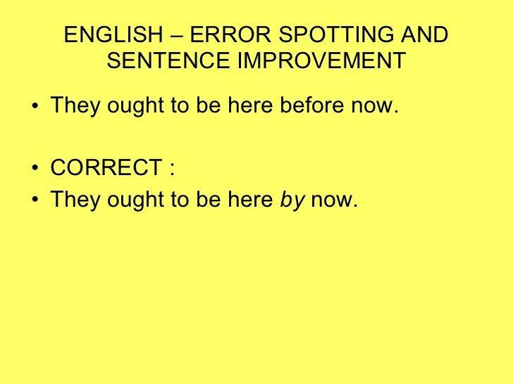 Correct english text