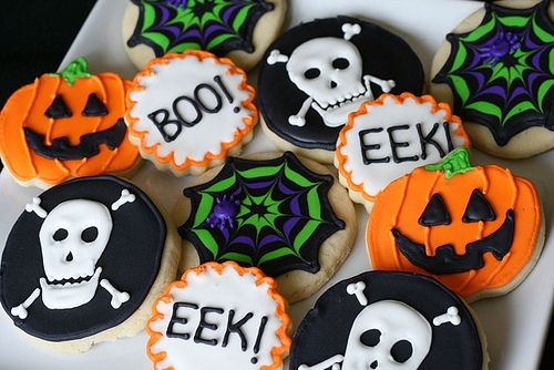 cute halloween sugar cookie ideas and tips. she has tricks for the perfect royal icing, too.