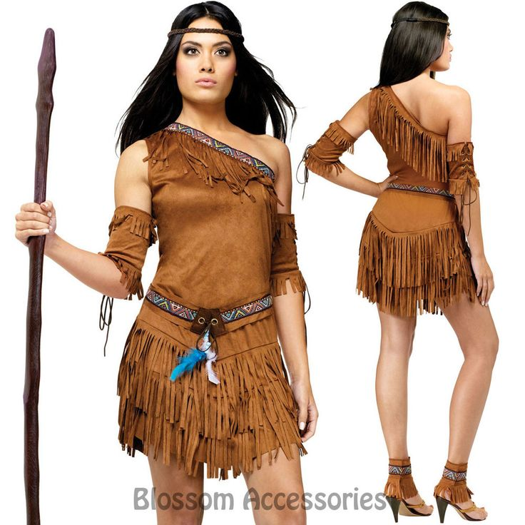CL220 Pow Wow Noble Warrior Native American Indian Wild West Fancy Dress Costume