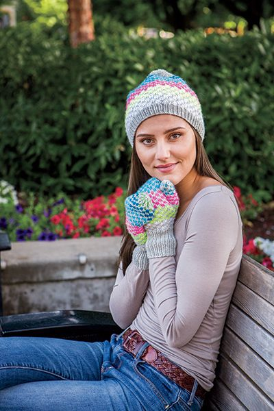 6ce18cc9ef8 Simplicity Squared Hat   Mitts - Knitting Patterns and Crochet Patterns  from KnitPicks.com by Knit Picks Design Team