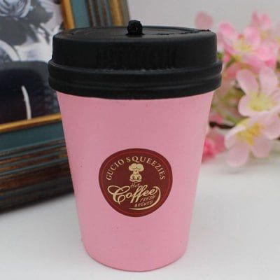 Just US$4.44, buy Simulation Coffee Cup PU Squishy Toy online shopping at GearBest.com Mobile.