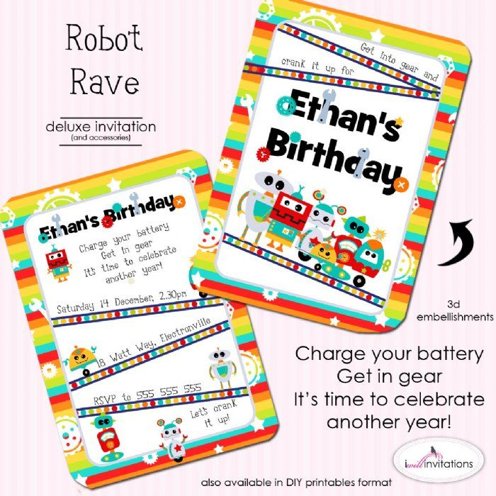 Best 155 Robot Party images – Robot Party Invitations