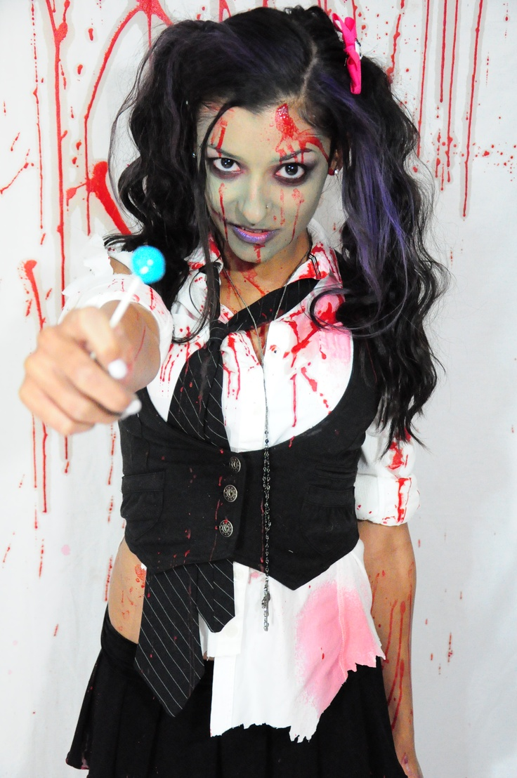 Lollipop zombie school girl