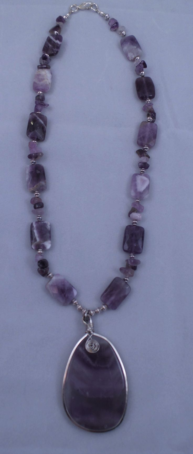 Amethyst Necklace with Amethyst Pendant1