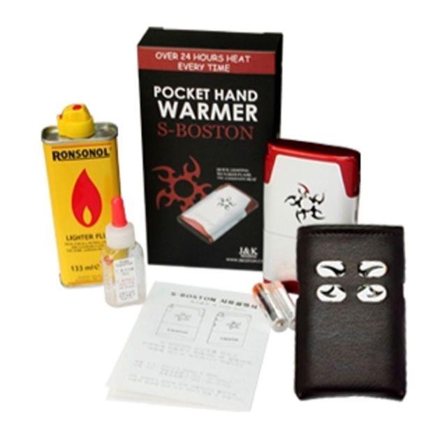 [S-Boston] Hybrid Pocket Hand Warmer Electric Ignition Oil Fuel 15Hr(Basic Pack)